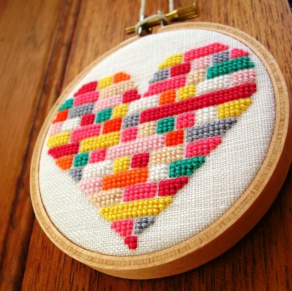 Adorable Heart Embroidery Etsy DIY