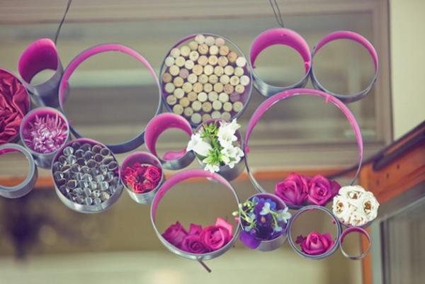 Painted Tube Decor Wedding DIY Tutorial
