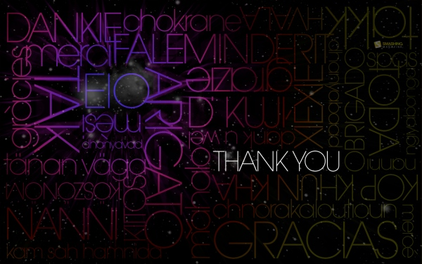 Thank You Graphic Desktop Wallpaper